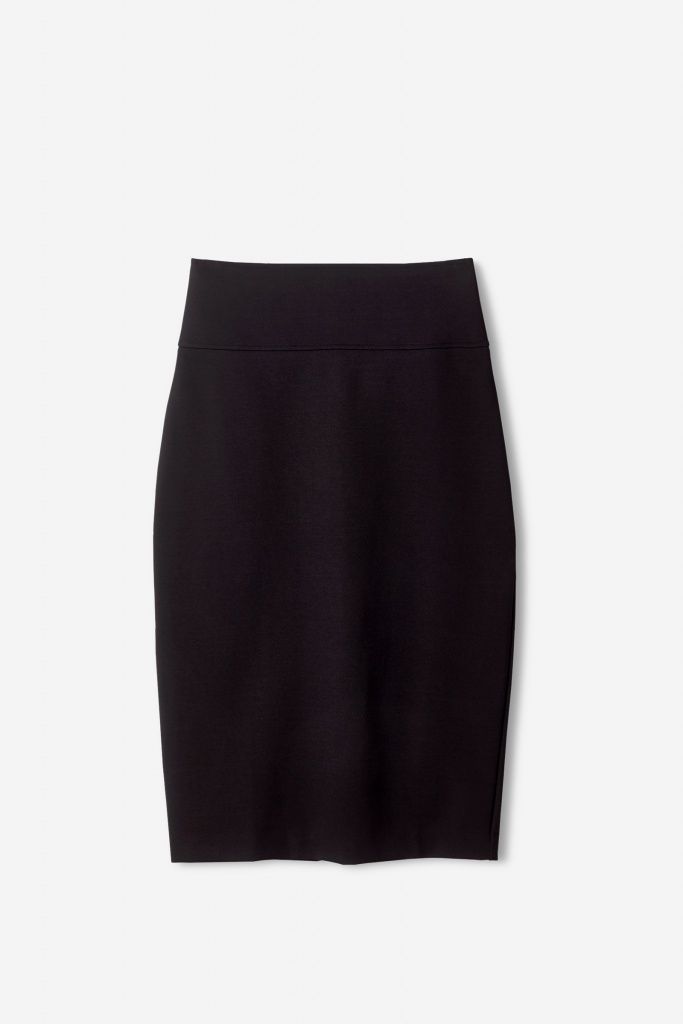 High Waisted Pencil Skirt Black