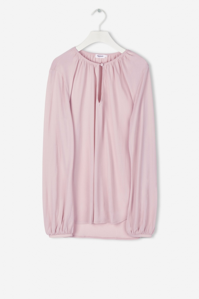 Sheer Crepe Blouse Frosty Pin