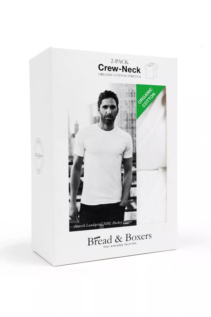 2-pack crew neck White