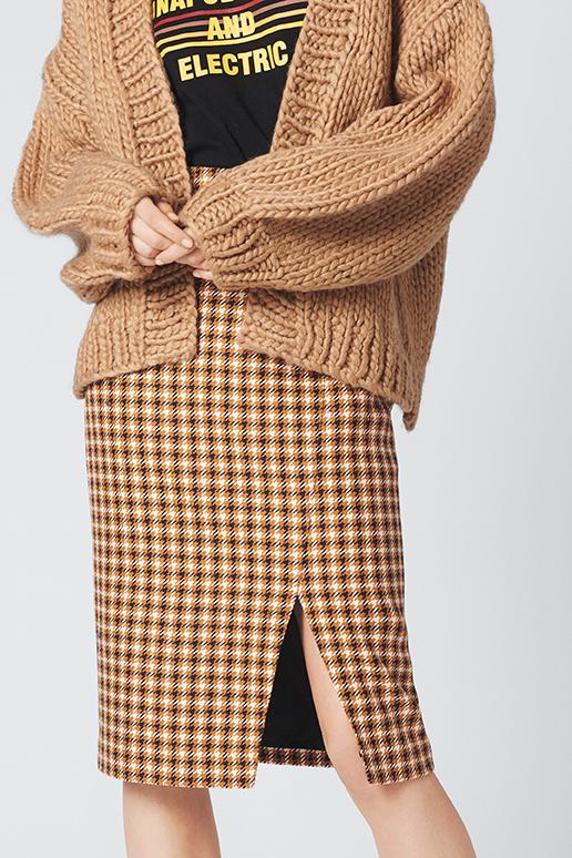 MoniqueGZ skirt Yellow/blue check