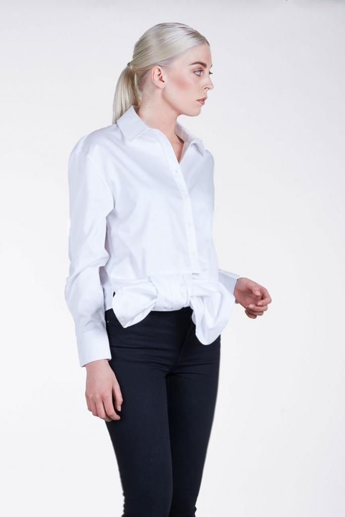 Caroline Knot Shirt White