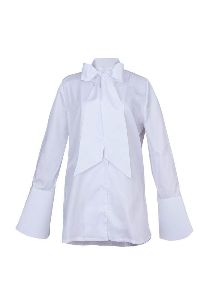 Isabell Bow Tie shirt White