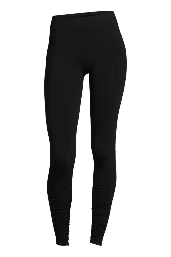 Seamless rib tights Black