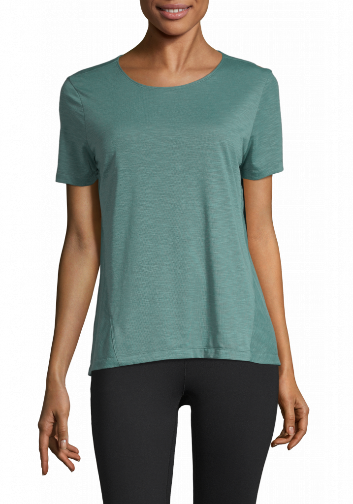 Crossways Textured Tee Streaming Green