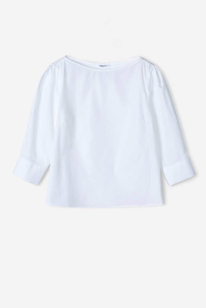 Cotton Poplin Top White