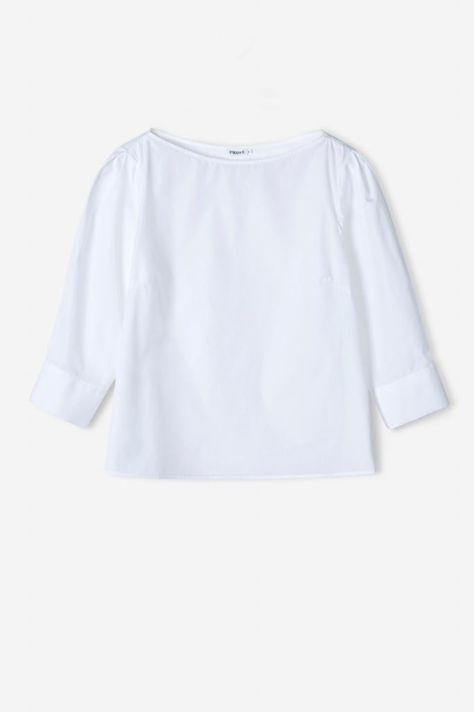 Cotton Poplin Top White