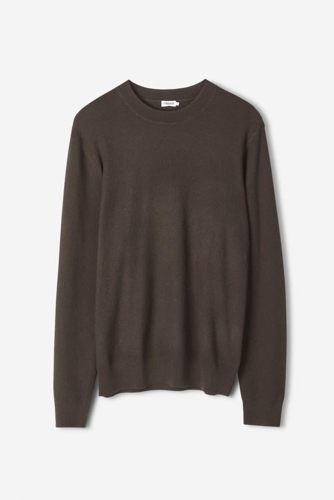M. Moss Knit R-Neck Sweater Beluga
