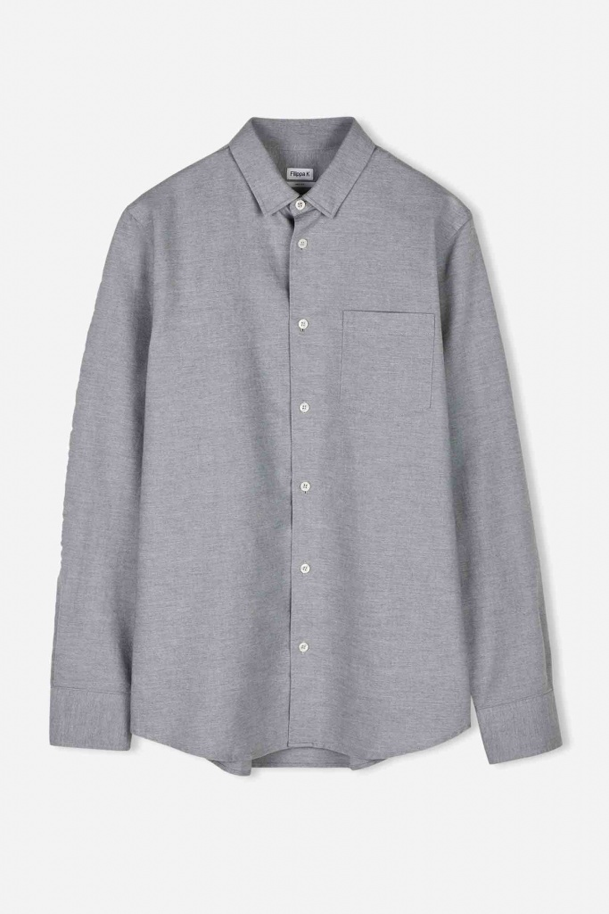 M. Tim Oxford Shirt Grey Mel.