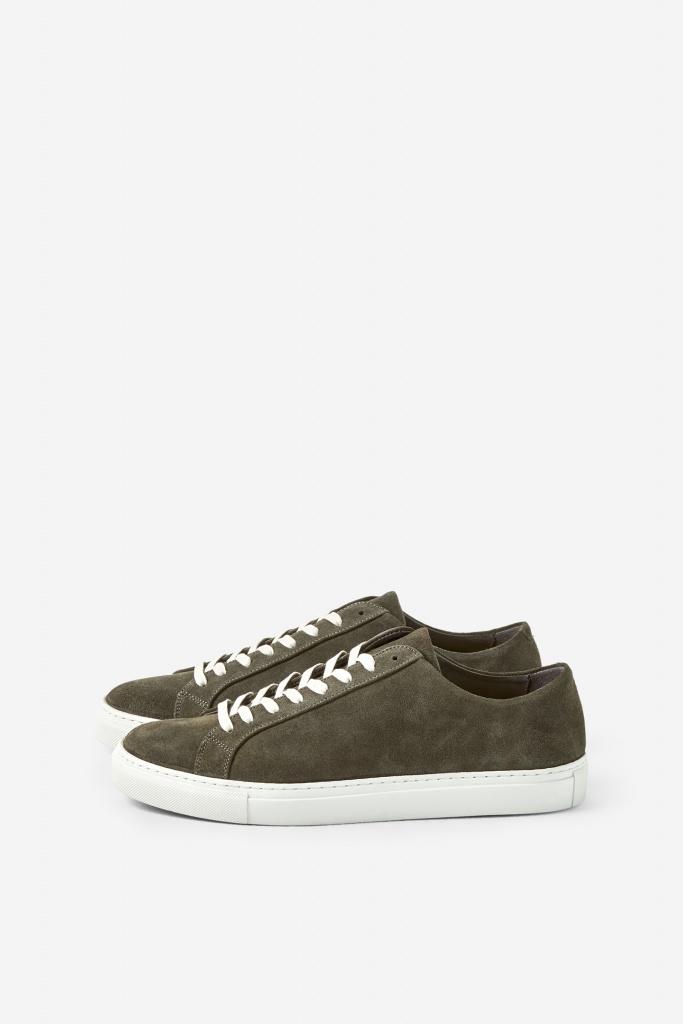M. Morgan Low Suede Sneaker Beluga