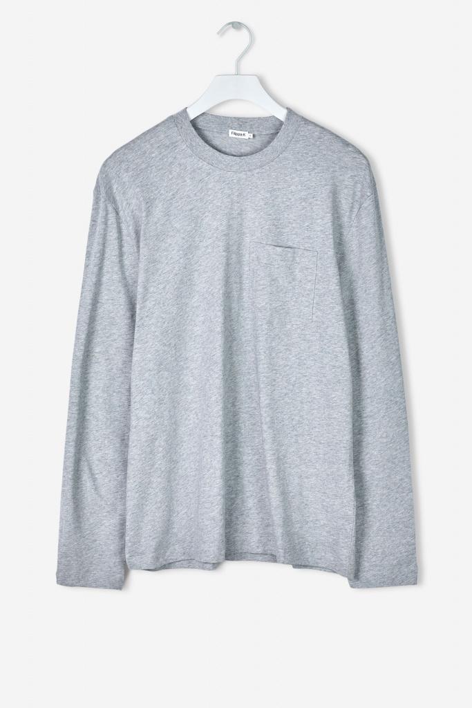 M. Heavy Single Jersey Longsle light grey