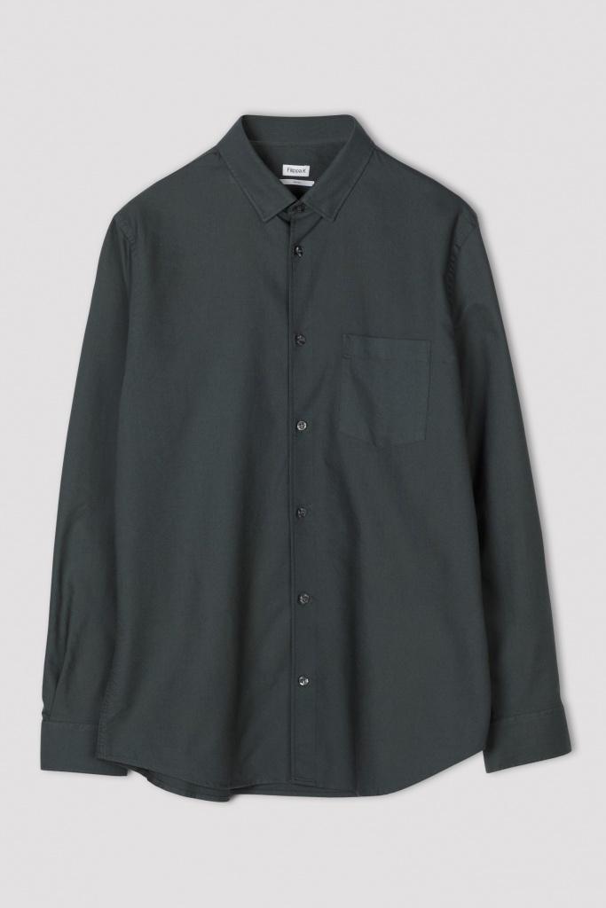 M. Tim Oxford Shirt Stone Gree