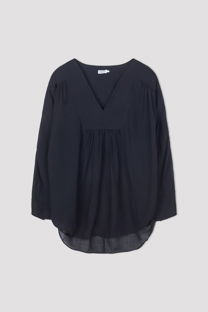 Gathered Beach Tunic Black
