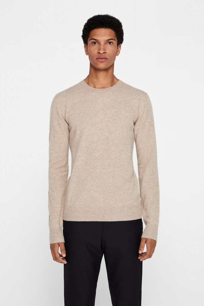 C-neck Light Cashmere Sand Melange
