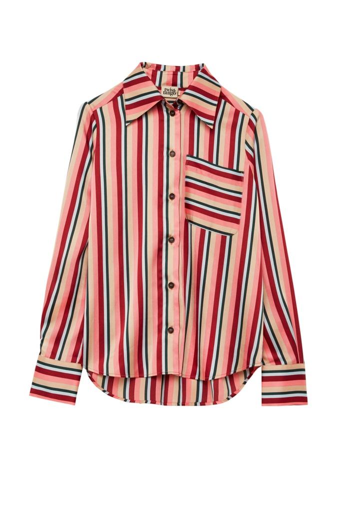 Nathalie shirt pink stripe