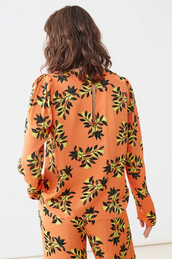 Peggy blouse orange flower