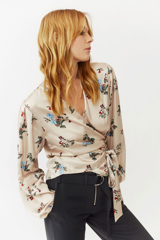 Valentina Blouse blush flower