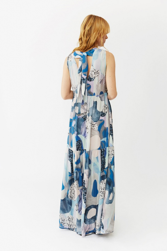 Jennifer Dress blue marble