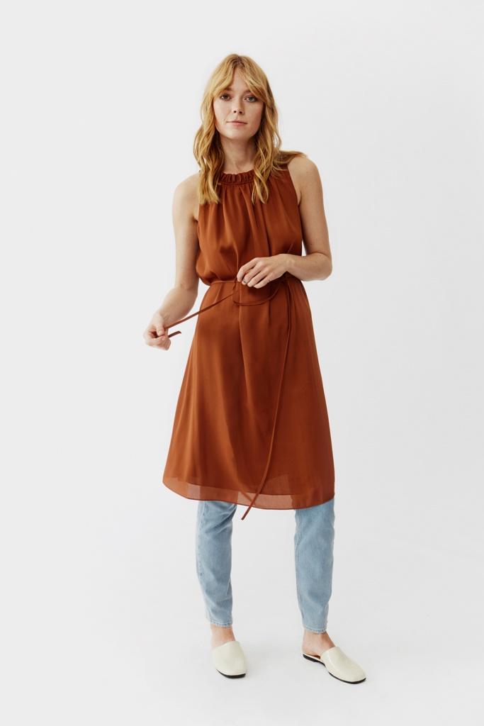 Marielle Dress Terracotta