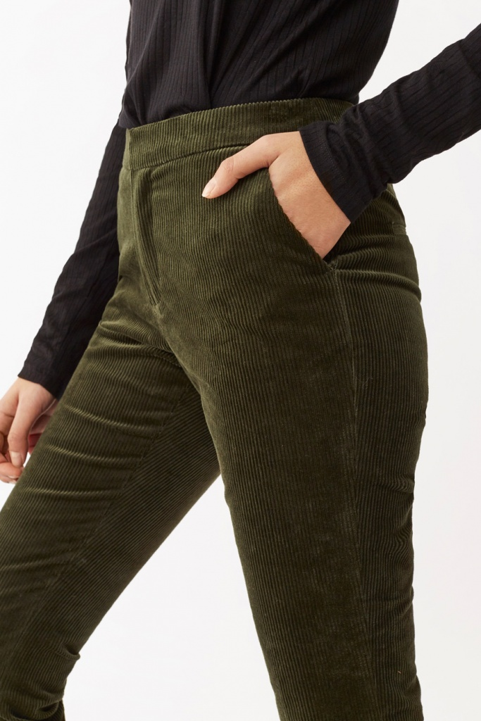 Lilly Cord Trousers deep khaki