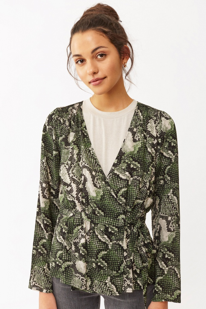 Isabel Blouse green snake