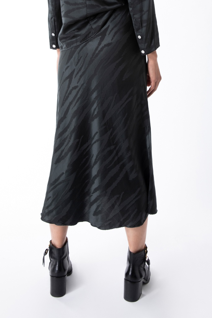 Hana tiger skirt Charcoal