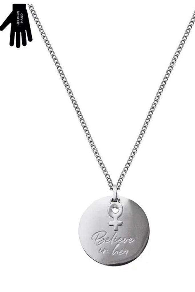 Believe In Her Necklace Steel steel