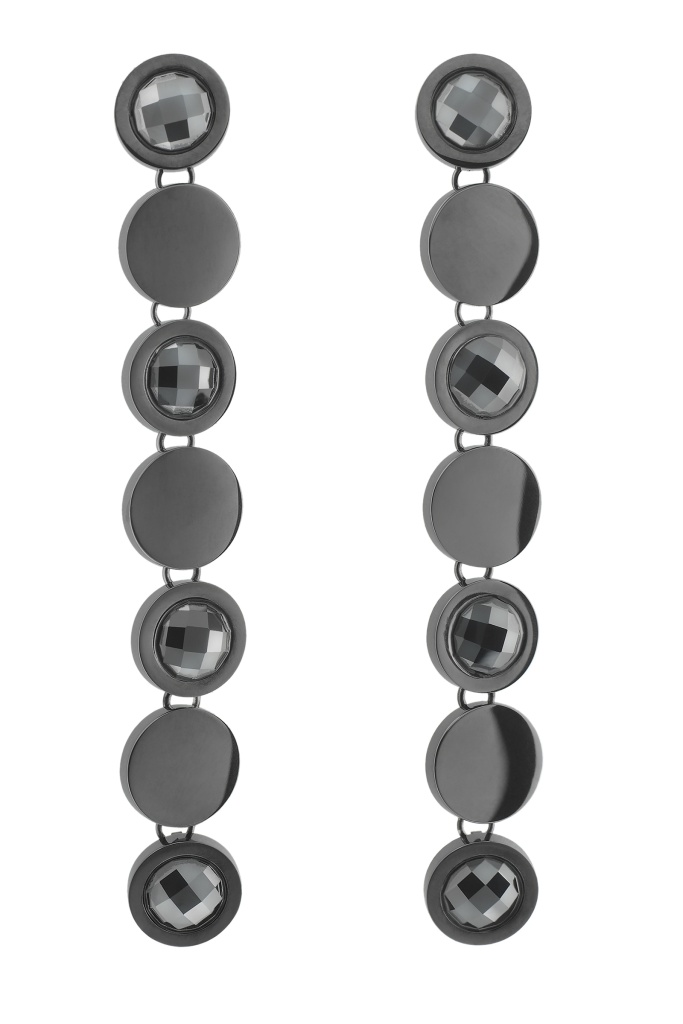 Evening Earrings Black Black