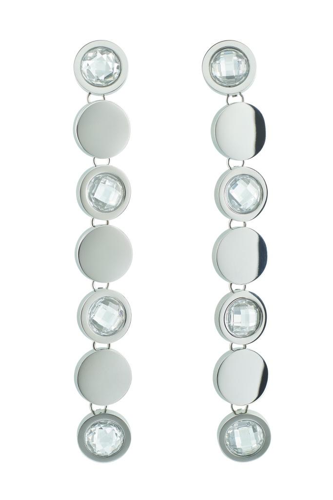 Evening Earrings Steel Silver
