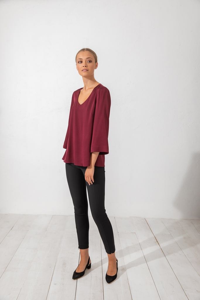 Emiko blouse Burgundy