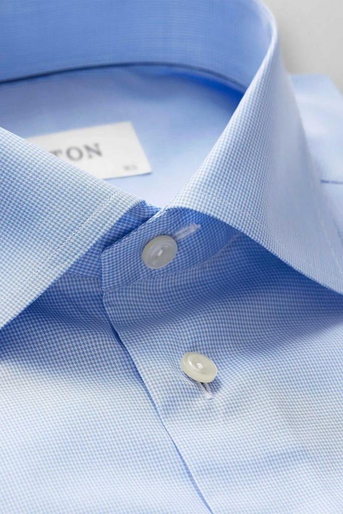 Sky blue hounds tooth shirt Blue