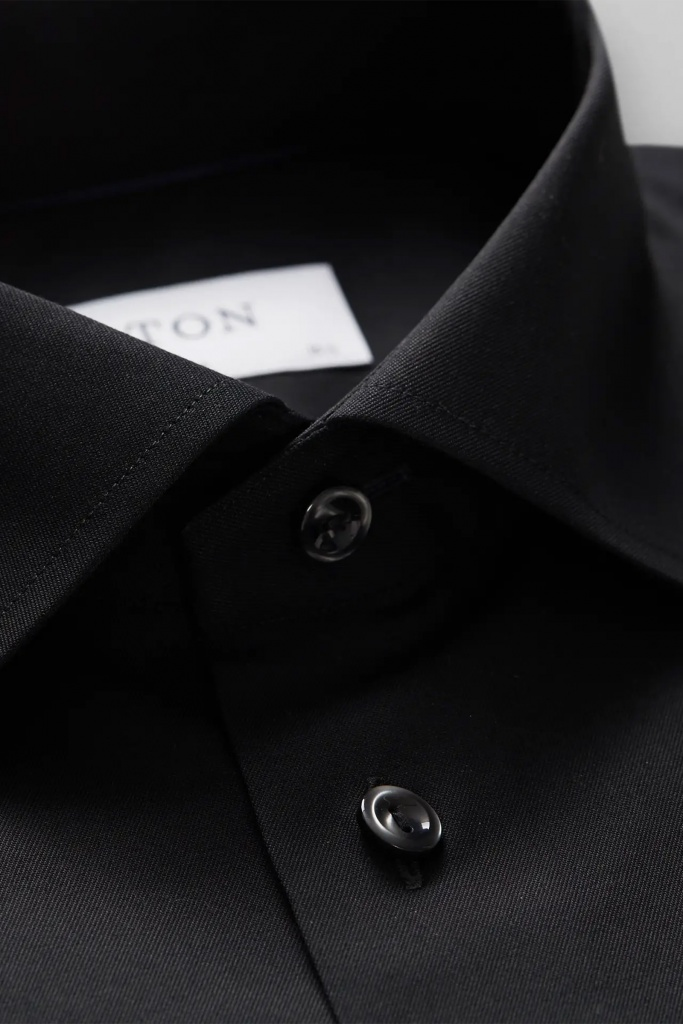 Signature twill shirt Black