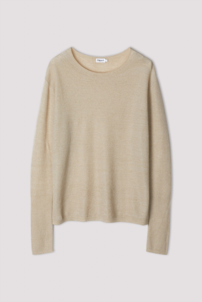 Ines Mohair Sweater Grey Beige