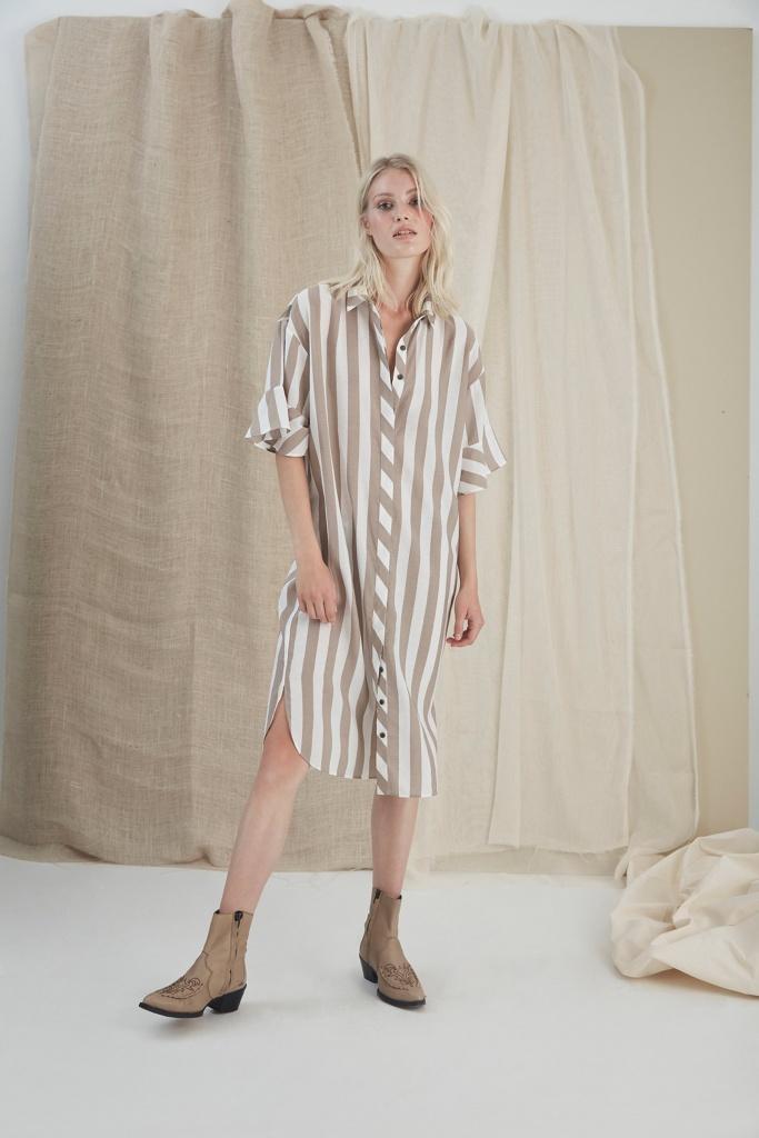 GunnaGZ long shirt sand stripe