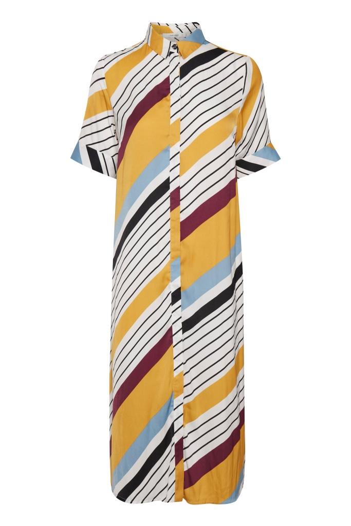 DianonaGZ dress Diagonal yellow stripe