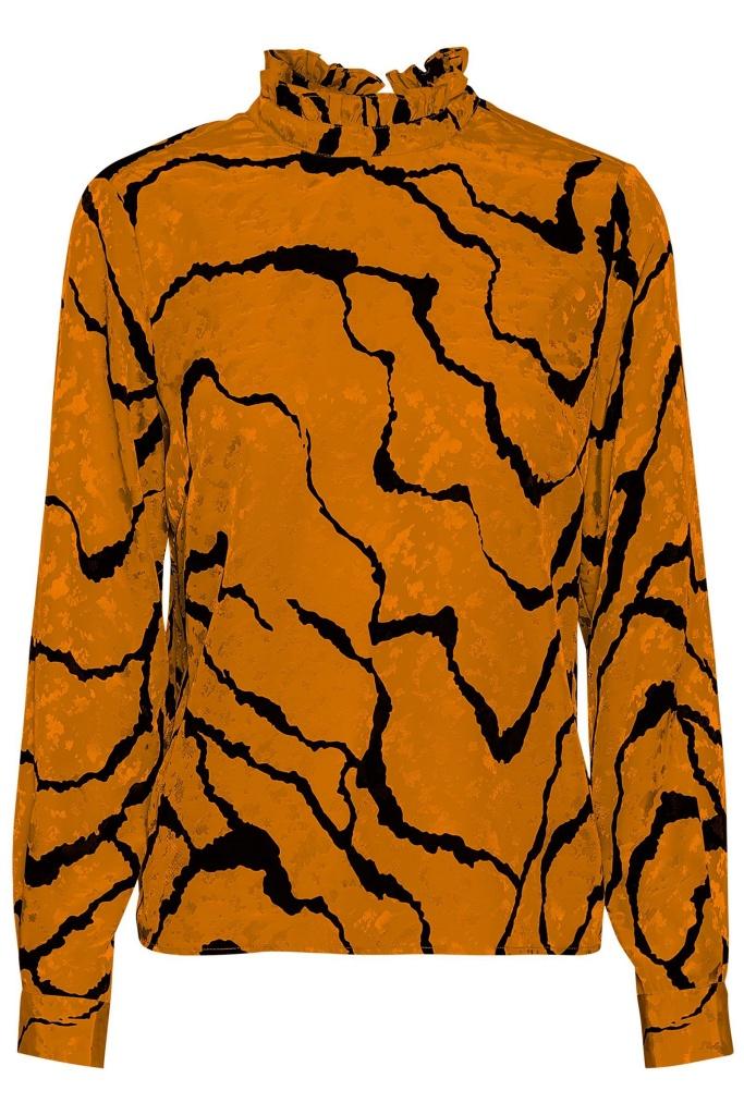 AylinGZ blouse Umber Ripple