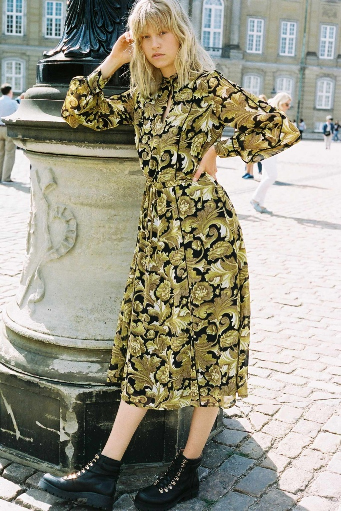 Aliva long dress vintage flower
