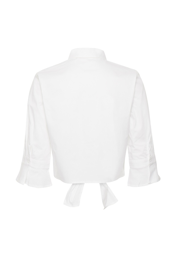 IbbyGZ cropped shirt Bright White