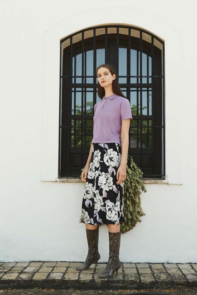 Flica skirt Blue flower AOP