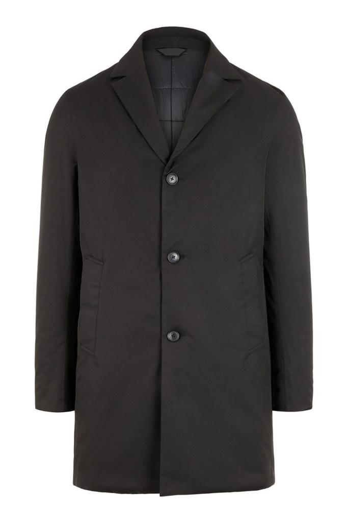 Wolger tech coat -Nylon Stretch Black