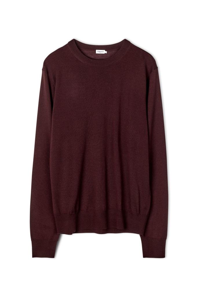 M. Merino R-Neck Sweater Deep Shira