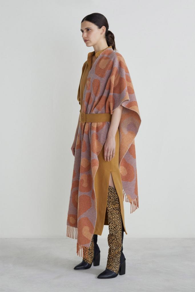 Cheetah scarf Sky blue