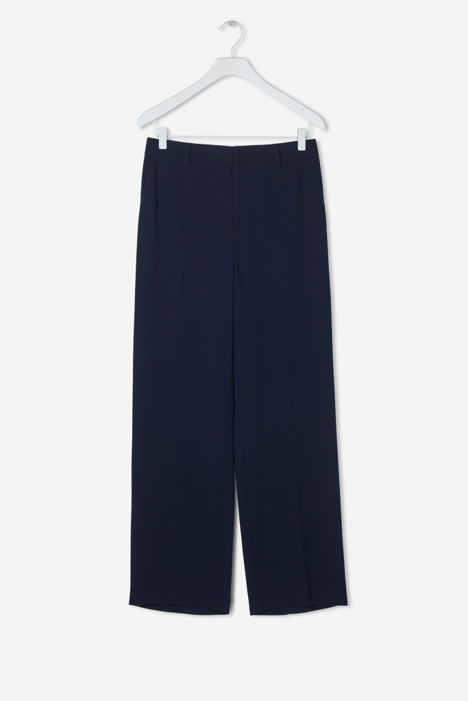 Hutton Crepe Trouser Navy