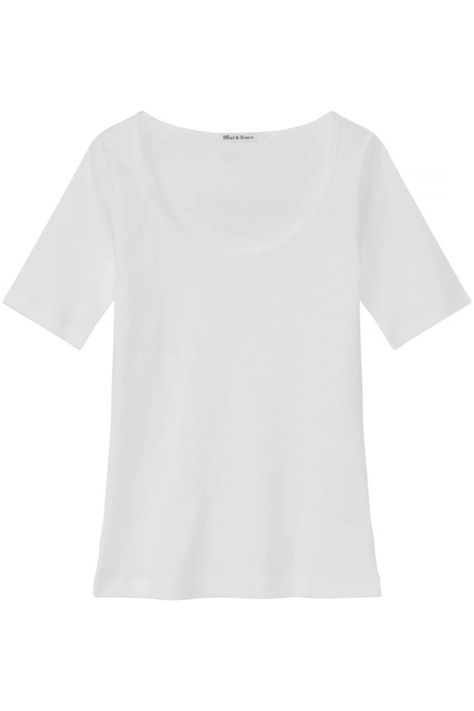 SB T-shirt ribbed White