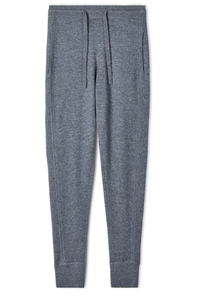 Cashmere Trackpant Grey Mel.