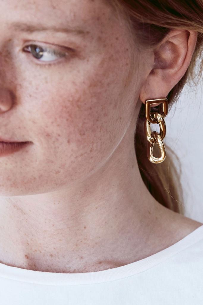 Bond Earrings Gold gold
