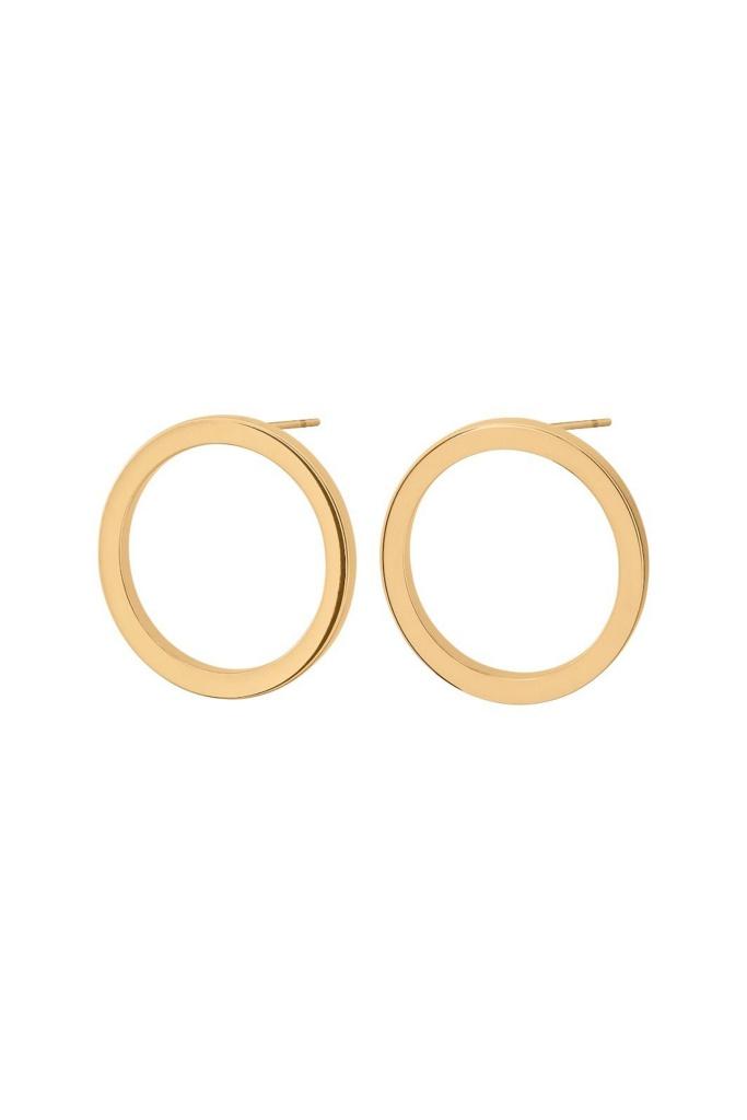 Circle Earrings Small Matt Gold matt gold