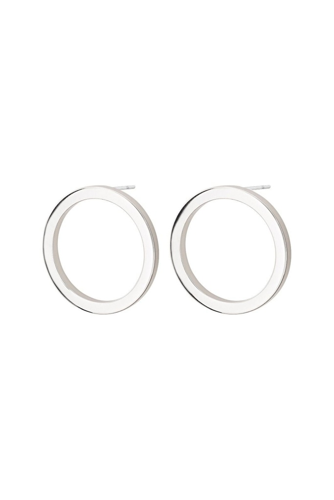Circle Earrings Small Steel steel