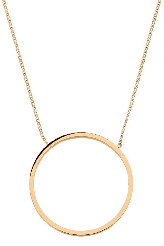 Circle Necklace Matt Gold gold