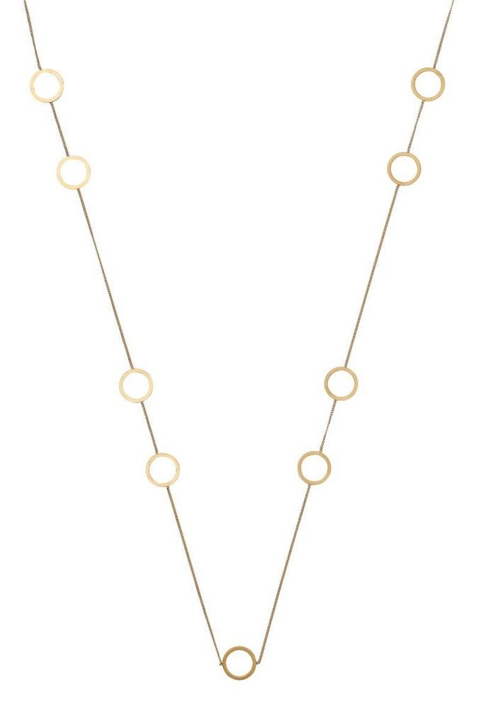 Circle Necklace Multi Matt Gold matt gold
