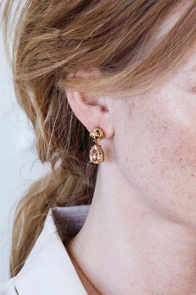Gala Earrings Champagne gold